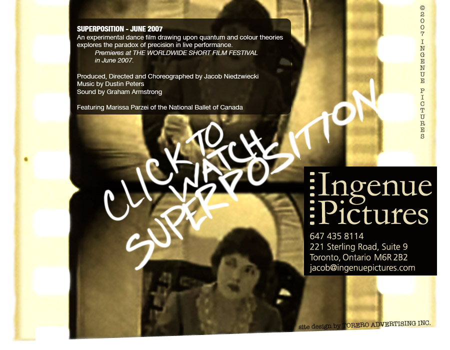 Jacob Niedzwiecki's Ingenue Pictures presents SUPERPOSITION